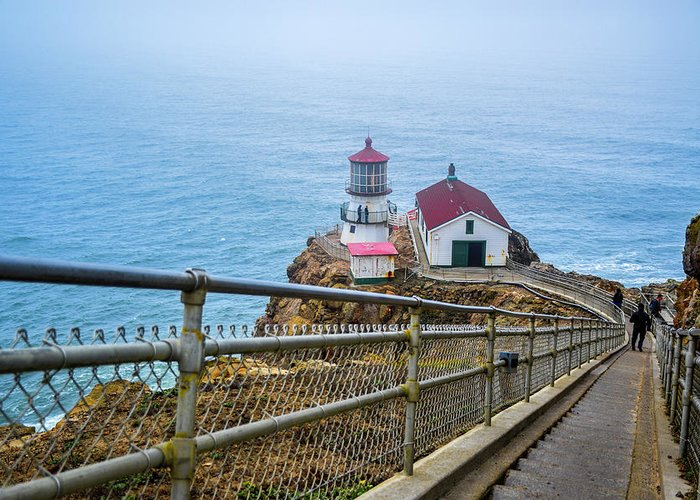 Point Reyes Greeting Card featuring the photograph Point Reyes Lighthouse by Mason del Rosario