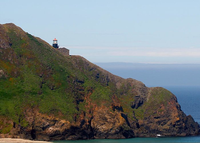 Point Sur Lighthouse Greeting Card featuring the photograph Point Sur Lighthouse Ca by Christine Till
