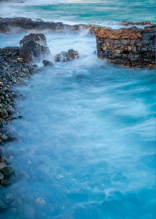 Lava Rock Greeting Card featuring the photograph Poipu Dreams by Dustin Clark