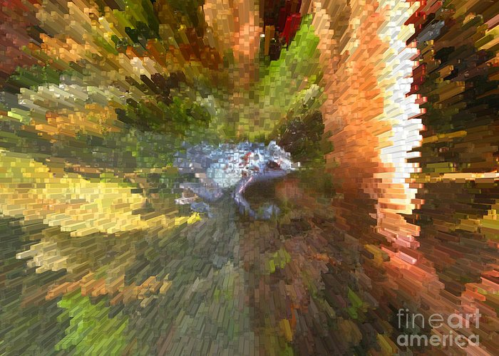 Frog. Blue Greeting Card featuring the digital art Poison Blue Dart Frog by Donna Brown