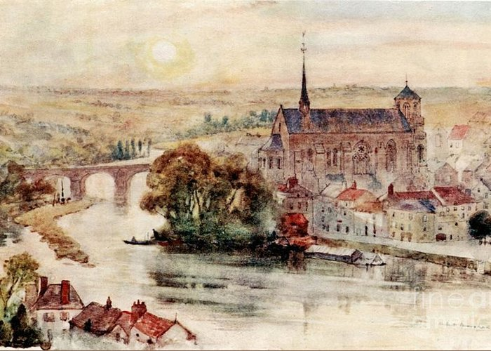 Herbert Menzies Marshall - Poitiers Greeting Card featuring the painting Poitiers by MotionAge Designs