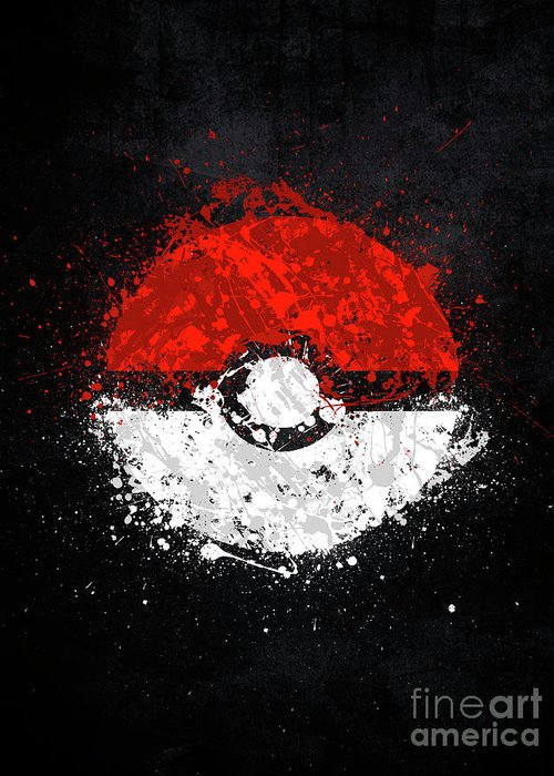 Pokeball Greeting Card For Sale By Jonathon Summers