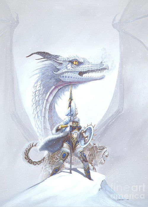 Dragon Greeting Card featuring the painting Polar Princess by Stanley Morrison