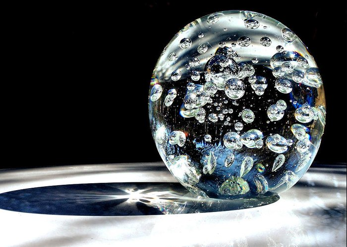 Ball Greeting Card featuring the photograph Polished by Karen Scovill