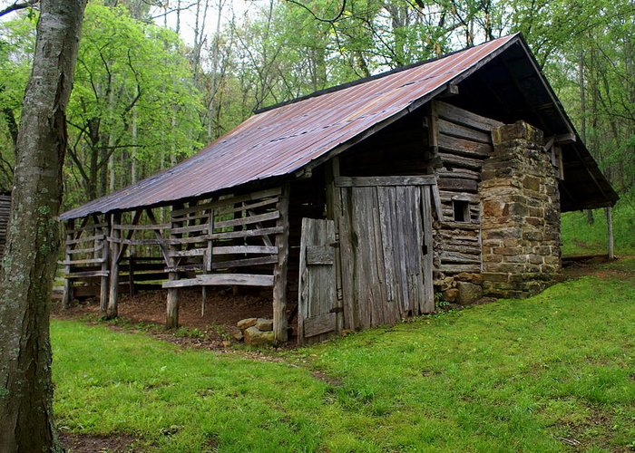 Buffalo National River Greeting Card featuring the photograph Ponca Barn by Marty Koch