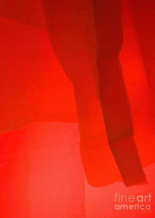Red Greeting Card featuring the photograph Poncho Abstract 3 by Jeff Breiman