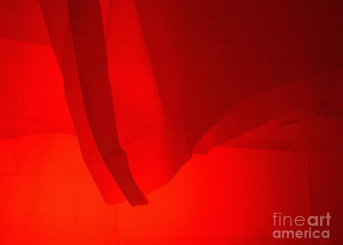 Red Greeting Card featuring the photograph Poncho Abstract 7 by Jeff Breiman