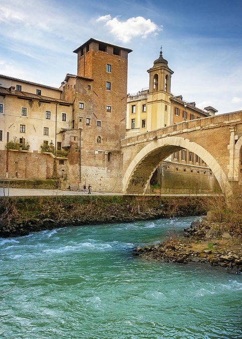 Tiber Island Greeting Cards