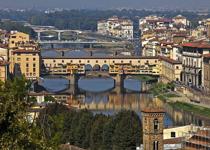 Florence Greeting Card featuring the photograph Ponte Vecchio - Florence by Joana Kruse