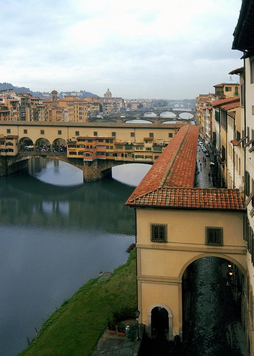 Italy Greeting Card featuring the photograph Ponte Vecchio by Warren Home Decor
