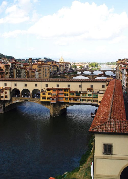 Florence Greeting Card featuring the photograph Ponte Vechio Florence by Mathew Lodge