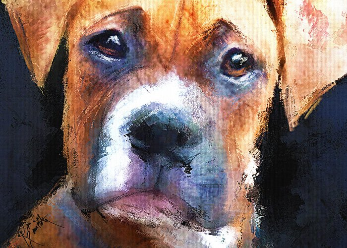 Dog Greeting Card featuring the painting Pooch by Robert Smith