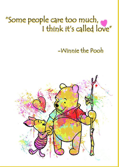 Pooh cute love quotes greeting card for sale by prar kulasekara pooh greeting card featuring the digital art pooh cute love quotes by prar kulasekara m4hsunfo