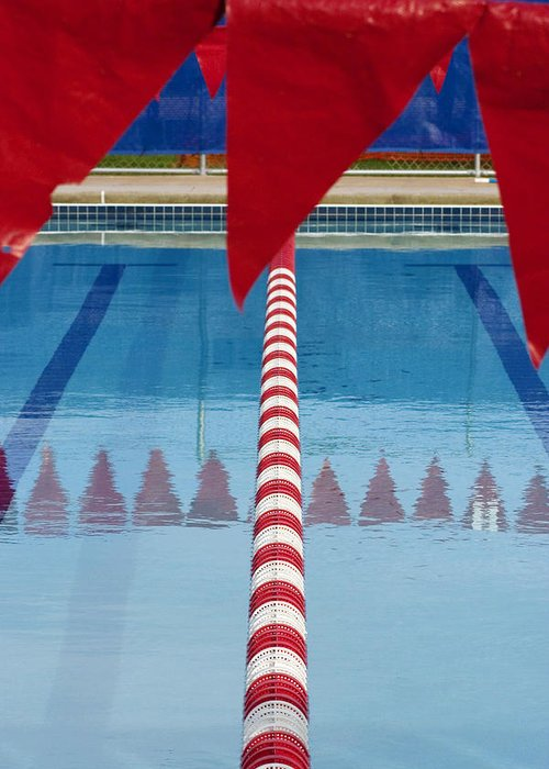 Flag Greeting Card featuring the photograph Pool by Skip Hunt