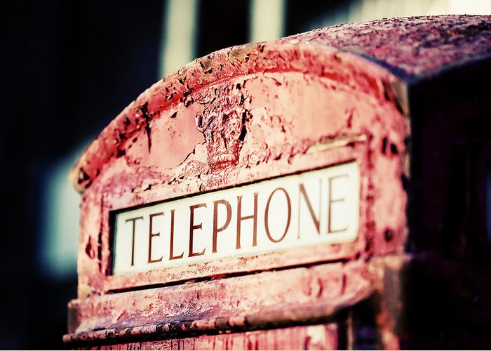 British Telephone Booth Greeting Cards