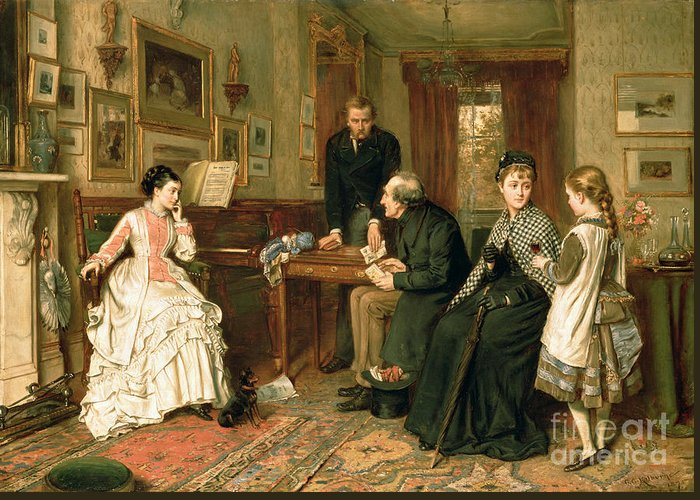 Poor Relations Greeting Card featuring the painting Poor Relations by George Goodwin Kilburne
