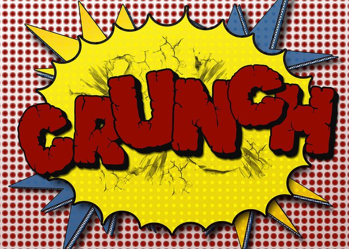Crunch Greeting Card featuring the digital art Pop Crunch by Suzanne Barber