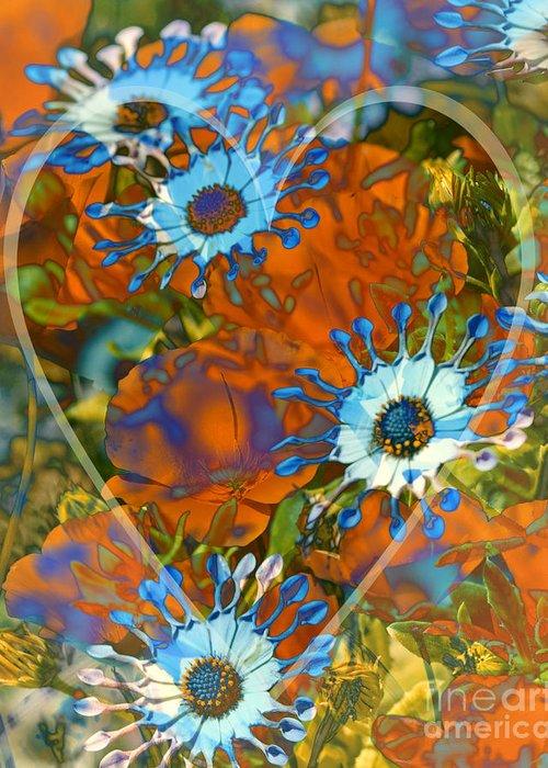 Floral Greeting Card featuring the digital art Poppy Love by Chuck Brittenham