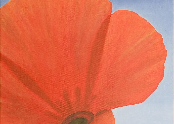 Flower Greeting Card featuring the painting Poppy by Rob De Vries