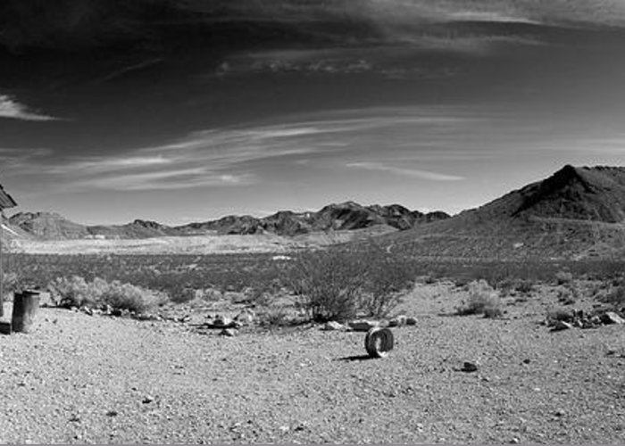Panorama Greeting Card featuring the photograph Population Zero by Mike Irwin