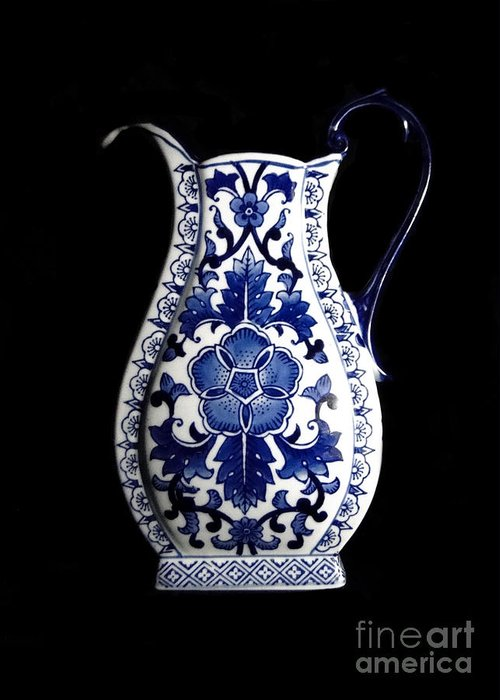 Blue And White Porcelain Greeting Card featuring the photograph Porcelain1 by Jose Luis Reyes
