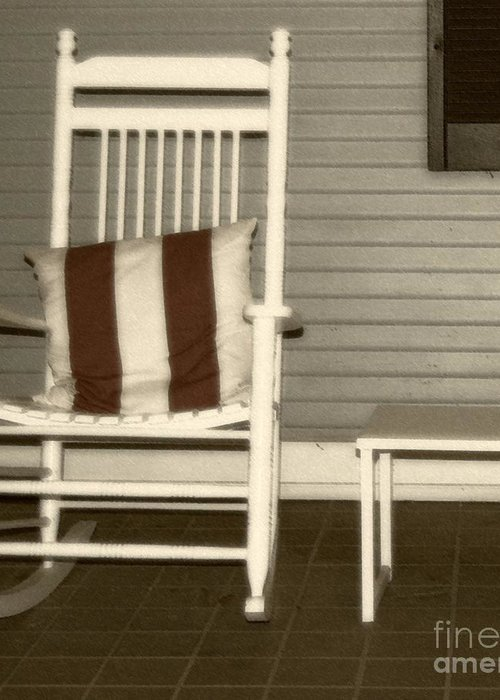 Rocking Chair Greeting Card featuring the photograph Porch Rocker by Debbi Granruth
