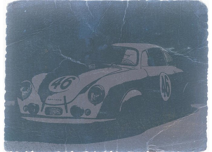 Porsche 356 Coupe Front Greeting Card featuring the photograph Porsche 356 Coupe Front by Naxart Studio