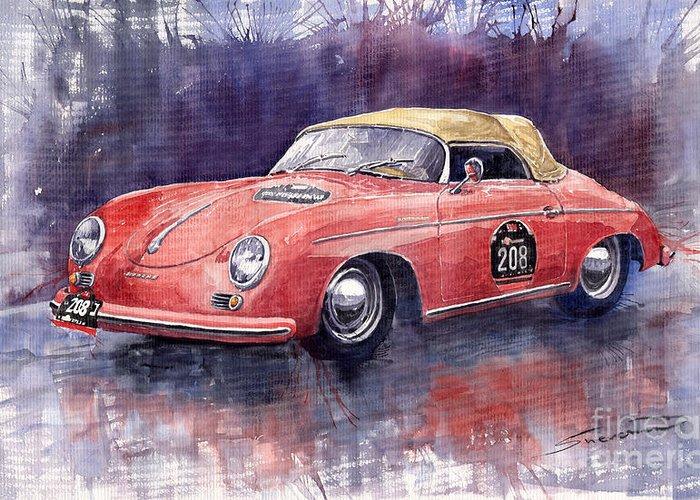 Porsche 356 Greeting Cards