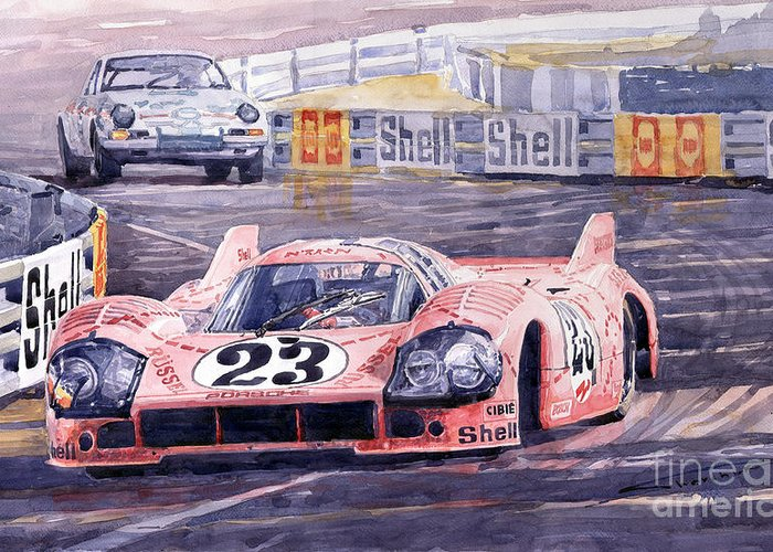 Le Mans 24 Greeting Cards