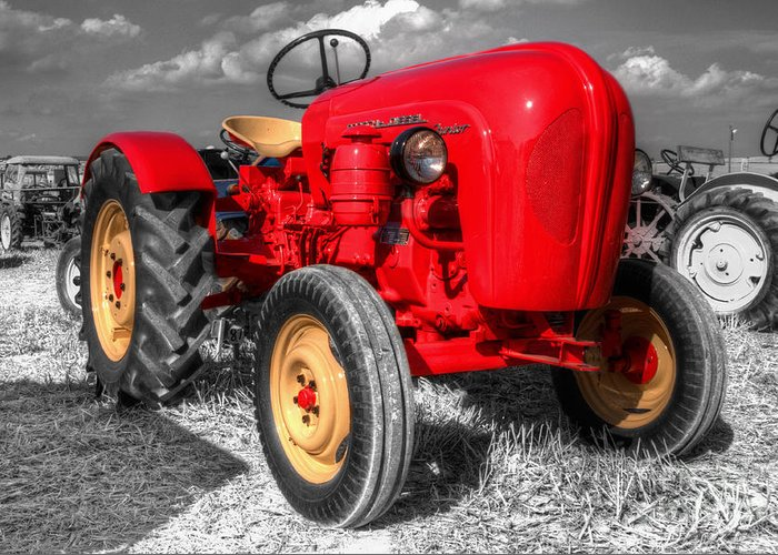 Porsche Greeting Card featuring the photograph Porsche Tractor by Rob Hawkins