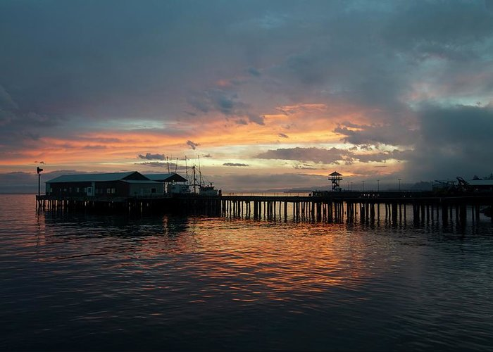 Portangeles Greeting Card featuring the photograph Port Angeles Sunrise by Porter Glendinning