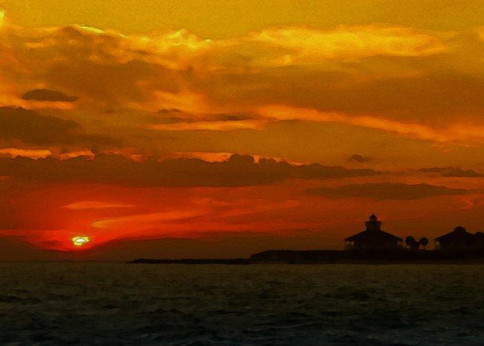 Port Boca Grande Light Greeting Card featuring the photograph Port Boca Grande Light by Lyle Huisken