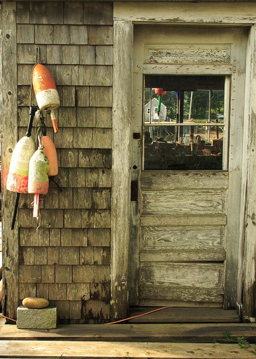 Seascape Greeting Card featuring the photograph Port Clyde Door by Doug Mills