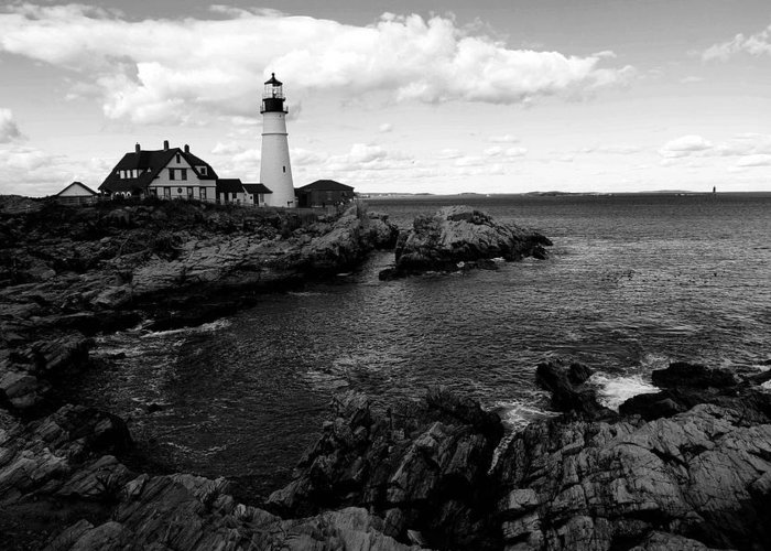 Lighthouse Greeting Card featuring the photograph Portland Head Light by Filipe N Marques