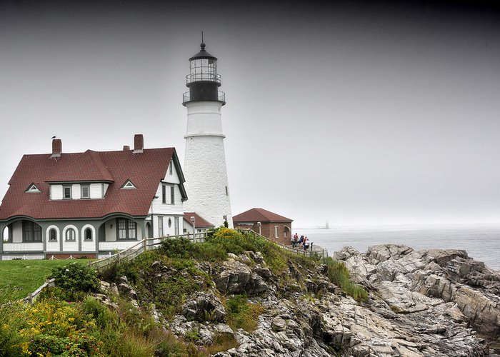 portland Head Lighthouse Greeting Card featuring the photograph Portland Head Light - Maine by Brendan Reals
