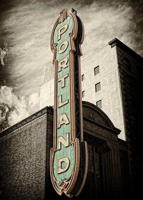 Portland Greeting Card featuring the photograph Portland Marquis by Danielle Denham
