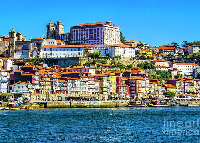Porto Greeting Card featuring the photograph Porto Portugal by Roberta Bragan