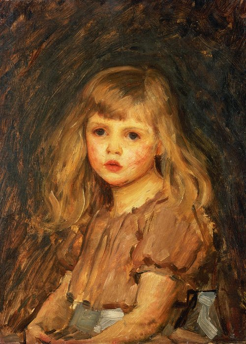 Girl Greeting Card featuring the painting Portrait Of A Girl by John William Waterhouse