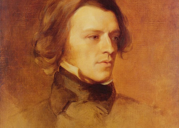 Portrait Greeting Card featuring the painting Portrait Of Alfred Lord Tennyson by Samuel Laurence