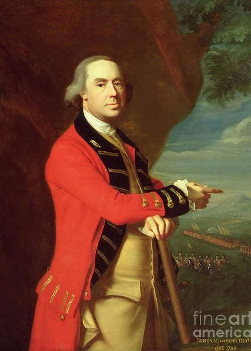 Portrait Greeting Card featuring the painting Portrait Of General Thomas Gage by John Singleton Copley