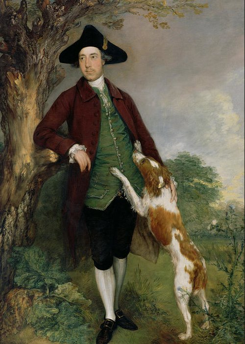 Portrait Greeting Card featuring the painting Portrait Of George Venables Vernon by Thomas Gainsborough