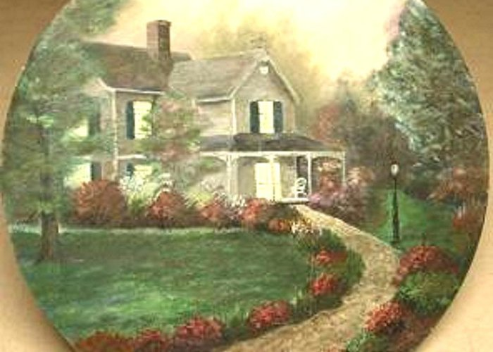 Portrait Of Home. I Greeting Card featuring the painting Portrait Of Home by Nicholas Minniti