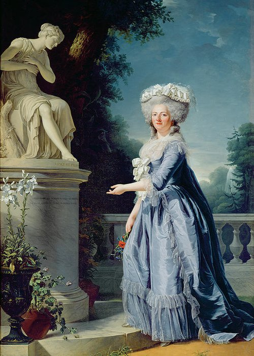 Portrait Greeting Card featuring the painting Portrait Of Marie-louise Victoire De France by Adelaide Labille-Guiard