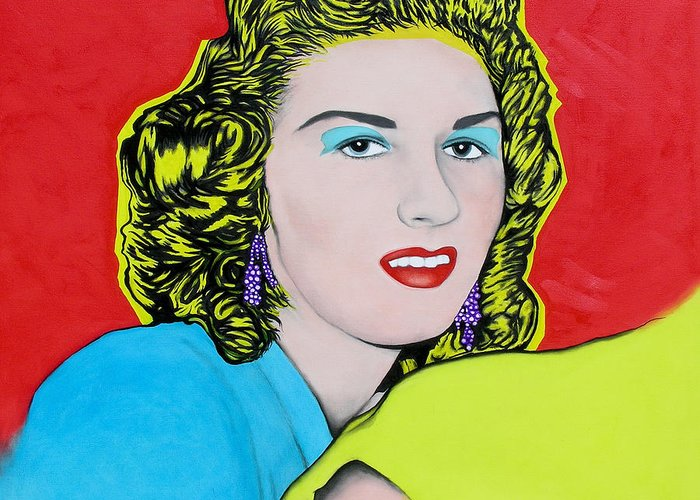 Portrait Greeting Card featuring the painting Portrait Of My Mother by Joe Michelli