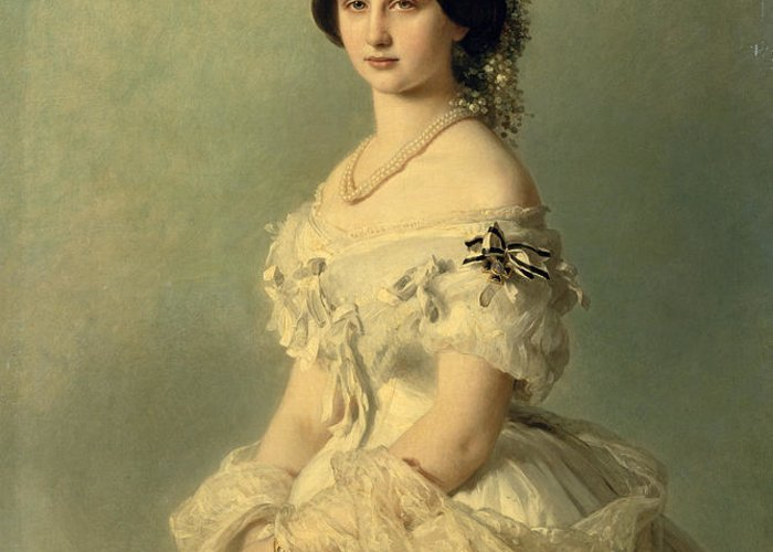 Portrait Greeting Card featuring the painting Portrait Of Princess Of Baden by Franz Xaver Winterhalter