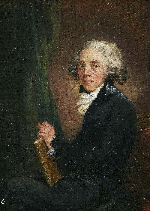Carl Fredrik Von Breda 1759-1818 Portrait Of The Scottish Physician Sir William Fordyce (1724-1792) Greeting Card featuring the digital art Portrait Of The Scottish by Mark Carlson