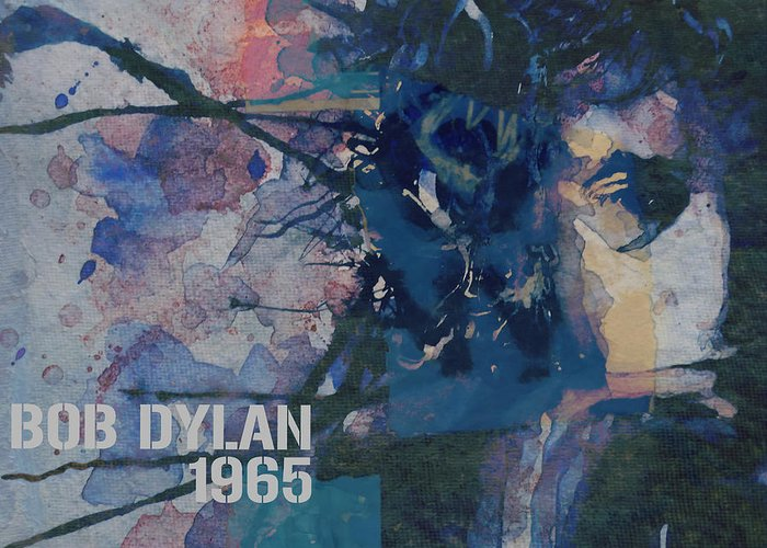 Bob Dylan Greeting Card featuring the painting Positively 4th Street by Paul Lovering