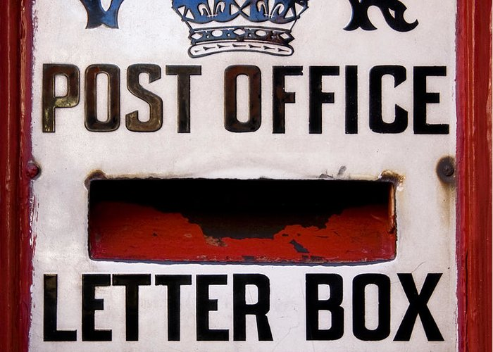 Background Greeting Card featuring the photograph Post Box by Jane Rix