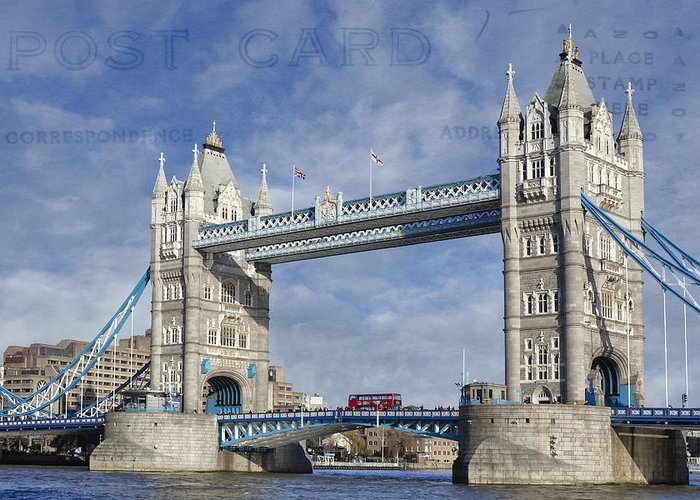 London Structure Greeting Cards