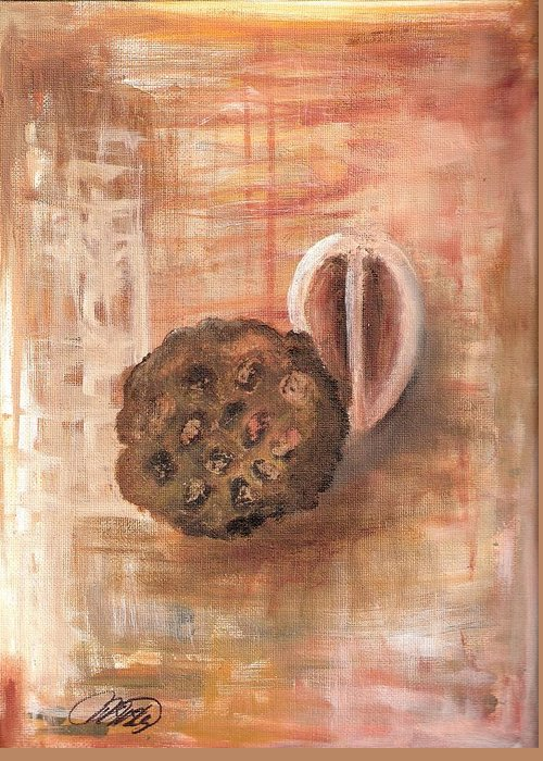 Impressionism Greeting Card featuring the painting Potpourri Four by Vivian Mosley